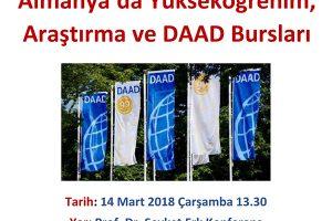 DAAD Alman Akademik Değişim Servisi Bursları ve Almanya'da Eğitim Semineri