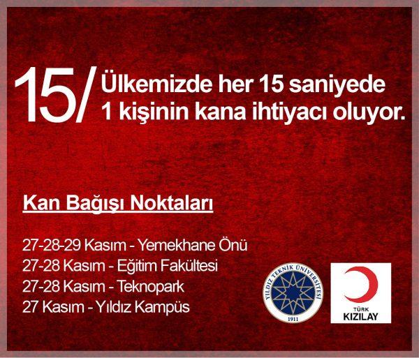 YTÜ-Kızılay İşbirliğiyle Üniversitemizde Kan Bağışı