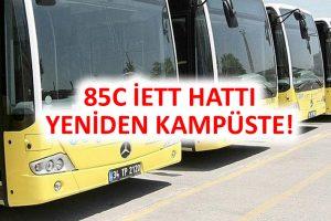 85C İETT Otobüs Hattı Yeniden YTÜ Davutpaşa Kampüsü'ne Giriyor!