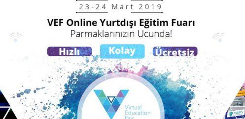VEF Online Yurtdışı Eğitim Fuarı, 23-24 Mart 2019 Tarihlerinde Gerçekleşecek!