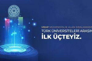 URAP 2018-2019 sıralamasında, Yıldız Teknik Üniversitesi Mühendislik'te 3. oldu!