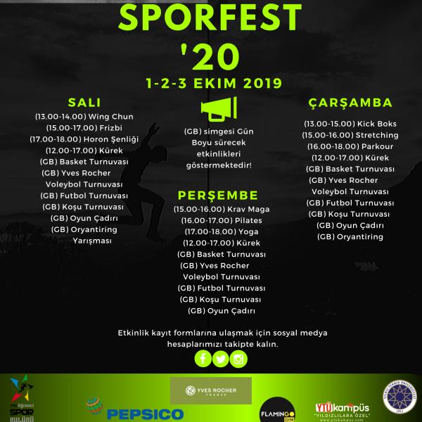 SporFest'20 (1-2-3 Ekim 2019)