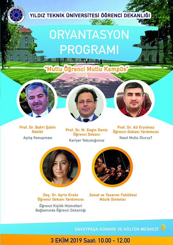 YTÜ Öğrenci Dekanlığı Oryantasyon Programı (3 Ekim 2019)