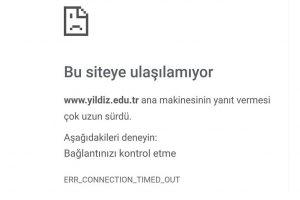 Yıldız Teknik Üniversitesi Resmi İnternet Sitelerine Ulaşılamıyor! YTÜ Resmi Siteleri Neden Açılmıyor?